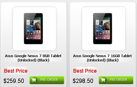 Google Nexus 7が台湾で予約開始、3Gモデルの噂も