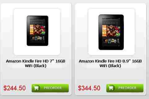予約開始!Kindle Fire HD 7インチは244.5ドル(約19,000円)8.9インチとLTE版も