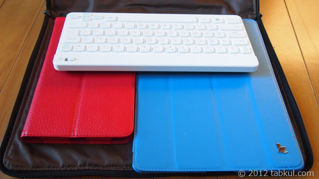 Nexus 7 購入レビュー | インナー・ケース到着!! iPad とか全部入れてみた