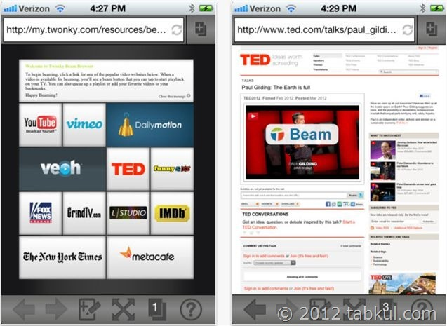 「Twonky Beam」の iOSアプリ でも「DTCP-IP対応」に