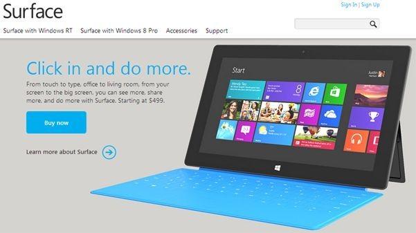 マイクロソフト、「Surface」を日本で発売予定へ(時期は未定)