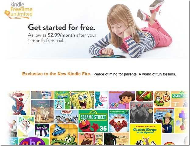 米Amazon、子供は月300円でTV/映画/本が見放題「Kindle FreeTime Unlimited」とは