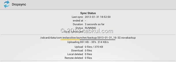 Nova Launcher の使い方 07「バックアップをDropbox へ自動保存する(後編)」