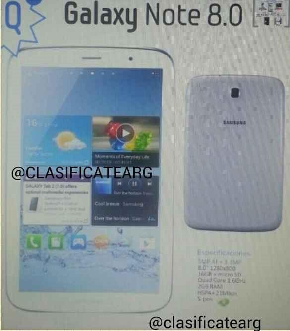 クアッドコア / 8インチ「Galaxy Note 8」は2月の MWC で発表か
