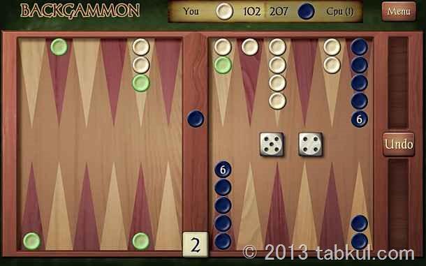 価格 115円のAndroid アプリ「Backgammon」の試用レビュー