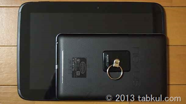 Nexus 10 レビュー 07   Nexus 7 とのサイズ比較、厚みと質感ほか