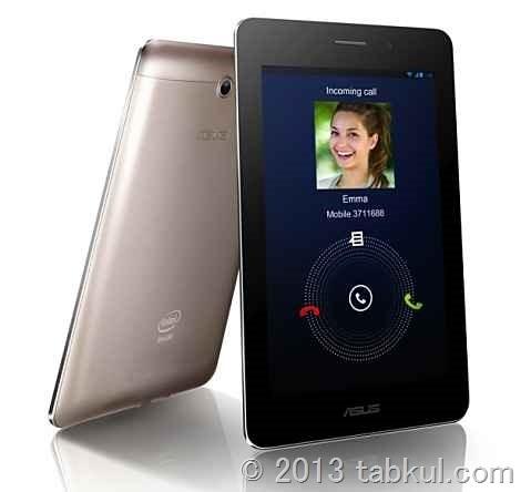 通話できるSIMフリーなタブレット「ASUS Fonepad」、スペックと価格 / MWC 2013