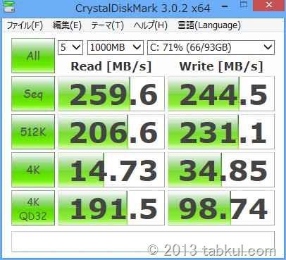 Lenovo Yoga 13 レビュー07 | HDDベンチマーク結果、VivoBook X202E SSD版と比較