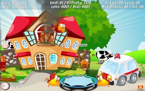 価格 99円、火事からヒヨコを助けるゲーム「Chickens BBQ」の試用レビュー / Androidアプリ