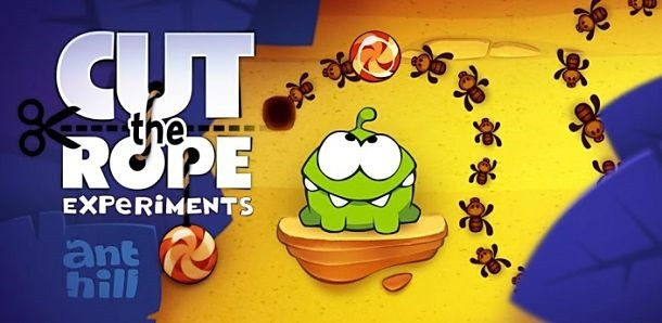 価格 99円、物理パズルゲーム「Cut the Rope」の試用レビュー / Androidアプリ