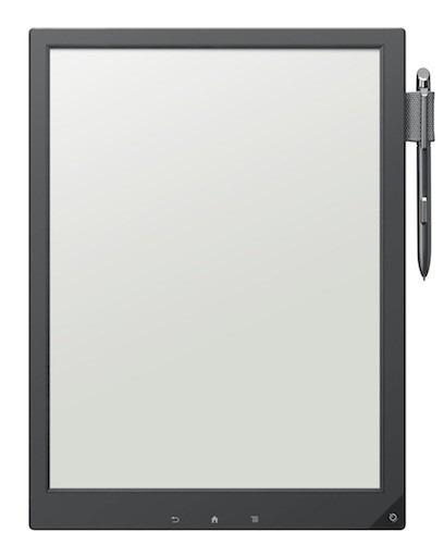 ソニー、13.3インチ「デジタルペーパー」端末を公開(E-Ink / ペン対応 / 約358g)