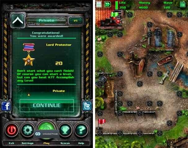 価格 252円、ゾンビを倒す防衛ゲーム「GRave Defense HD」の試用レビュー / Androidアプリ