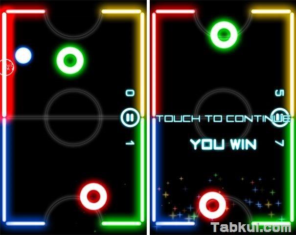 価格不明、2人プレイ可能なエアーホッケー「Glow Hockey 2 Pro」の試用レビュー / Androidアプリ