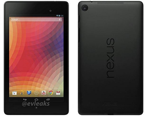 第2世代Nexus 7、前背面(エンボスなし)のプレス画像が流出か