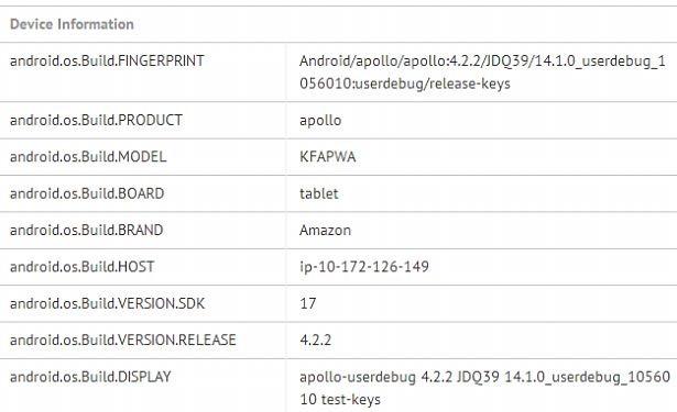 次期『Kindle Fire HD』がベンチマークに登場、Snapdragon 800搭載