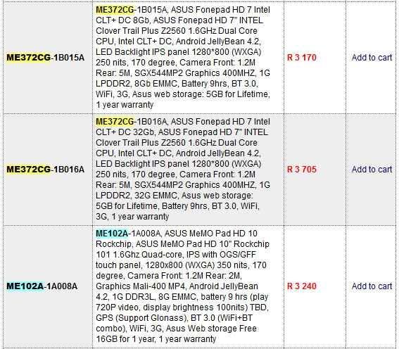 ASUS、未発表タブレット『Fonepad HD7 (ME372CG)』のスペックが流出か