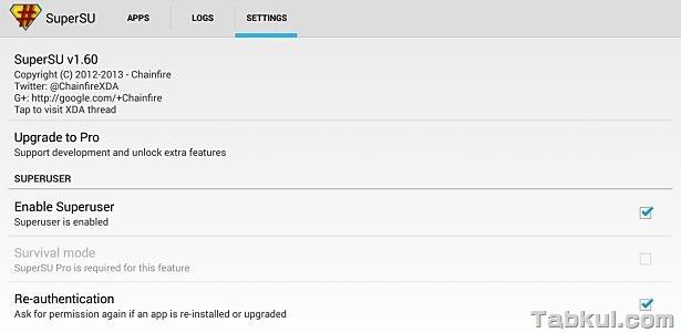 新型Nexus 7 2013、Android4.3(JSS15Q)をRoot化―Nexus Root Toolkit編