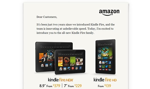 『Kindle Fire HDX 8.9』のスペック表と価格