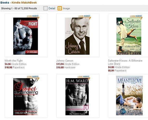 Amazon.com、紙の書籍購入で電子書籍版が格安に『Kindle MatchBook』サービス開始