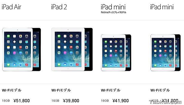 第2世代『iPad mini Retina』は僅かに重く、厚く。(新旧比較)