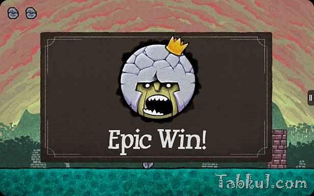 価格 299円、石で世界を破壊するゲーム「King Oddball」の試用レビュー