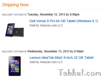 DELL Venue 8 Proを購入、Lenovo Miix 2 と一緒に。(個人輸入の記録)