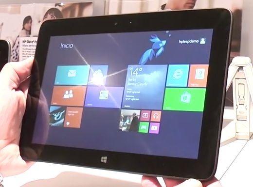 『HP Omni 10』のハンズオン動画―重さ630gの10型Windowsタブレット