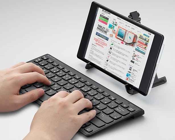 エレコム、スタンド付属Android/Windows対応Bluetoothキーボード『TK-FBP070BK』発表