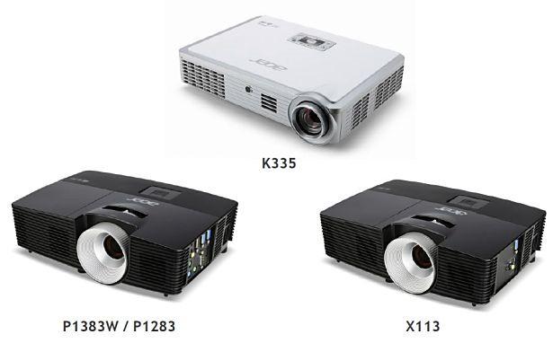 Acer、モバイルプロジェクター「K335」など4機種を2月14日発売へ