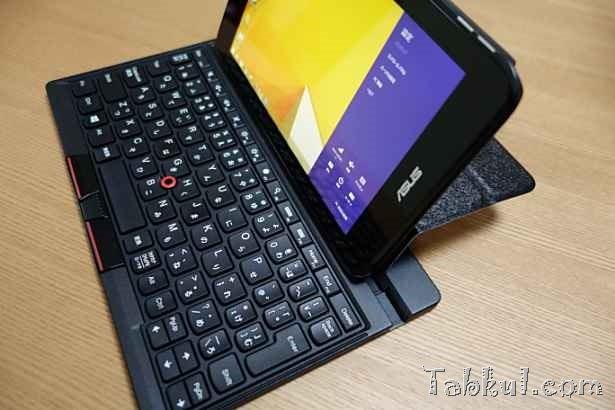 wisers製VivoTab Note 8用ケース、ThinkPad Tablet 2 Bluetoothキーボードで使えるか