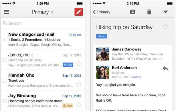 Gmail for iOS、常時メール受信やGoogleアプリへの自動ログインに対応