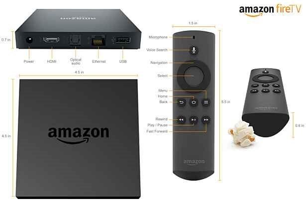 米アマゾン、セットトップボックス『Amazon Fire TV』発表―スペックと価格、他社との違いほか