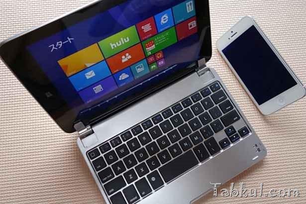 タブレットのノートPC化、F.G.S製キーボード「iPad mini」「Miix 2 8」で試す