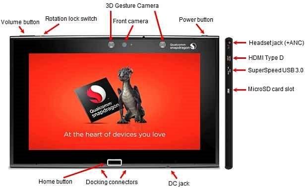 指紋スキャナ/Snapdragon 805搭載 10インチ『Intrinsyc MDP Tablet』発表、価格とスペックほか
