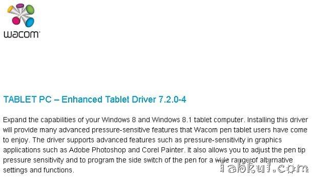 Wacomデジタイザ、ASUS VivoTab Note 8対応のドライバ公開―TABLET PC – Enhanced Tablet Driver 7.2.0-4