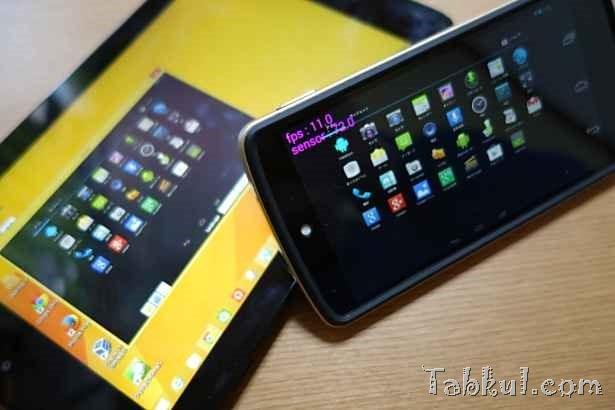 続々・Androidエミュレータ『Andy』をスマートフォン『Nexus 5』で遠隔操作、CPU使用率ほか