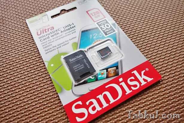 大容量128GBのMicroSDカード『SanDisk Ultra 128GB microSDXC』購入、開封レビュー