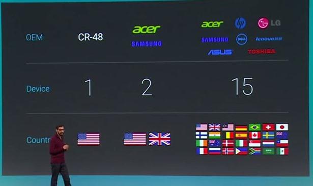 Google、Chromebookの日本展開を発表―Android連携やアプリが利用可能に