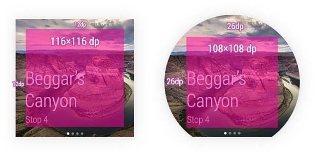 Android Wear画面デザインの話、スマートウォッチ Moto 360 と G Watchの試作機より