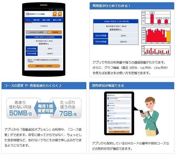 格安SIMカード『OCN モバイル ONE』がサービス拡充、高速通信の繰越やON/OFF切替に対応し専用アプリ6/25提供へ
