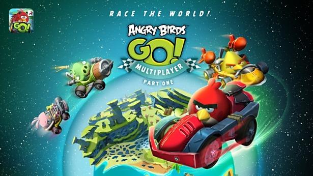 レースゲーム「ANGRY BIRDS GO!」がマルチプレイヤー対応に