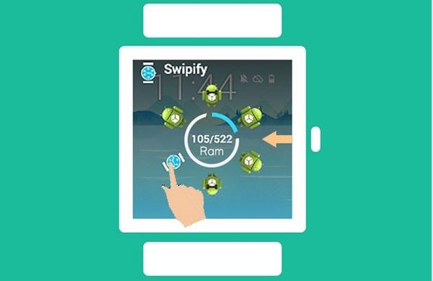 最近使ったアプリ機能付きAndroid Wearランチャー『Swipify』登場―スマートウォッチ