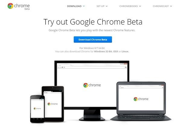 Google Chrome、64bit版Windows向けBetaバージョン提供開始