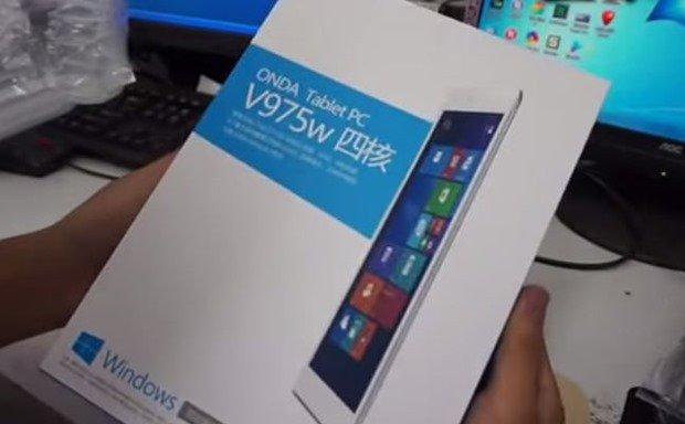 約2.6万円、RetinaなWindowsタブレット『ONDA V975w』の開封・ハンズオン動画