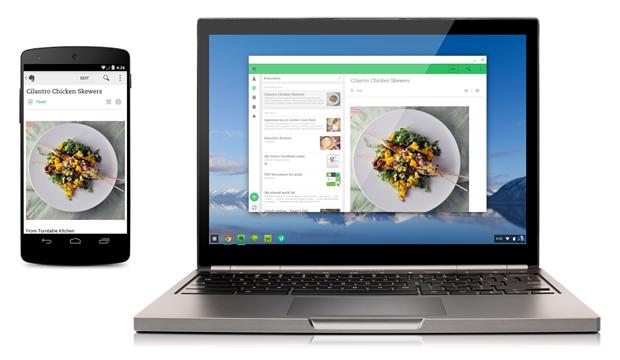 『Chromebook』で動作するAndroidアプリ配信開始―最初はEverNoteなど4アプリ