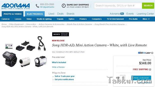 約2.6万円、ソニーの新型アクションカム『HDR-AZ1VR』の予約開始で価格判明―個人輸入可能 #IFA2014