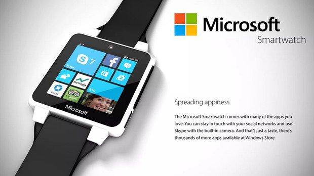 Microsoft製スマートウォッチのコンセプト画像、Cortanaや通話イメージほか