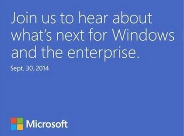 Microsoft、『Windows 9』発表イベントを9月30日に開催すると発表
