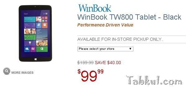 フルサイズUSB搭載8型Windows『WinBook TW800』が僅か99ドルで販売される
