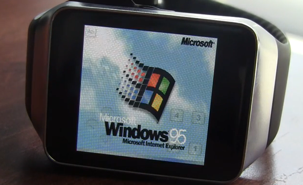 衝撃!Windows 95搭載スマートウォッチ誕生―Android Wear端末で動作